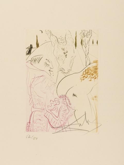 Salvador Dalí, 'La Jument de Compère Pierre (M & L 560c; Field 72-8I)', 1972, Print, Etching printed in colours, Forum Auctions