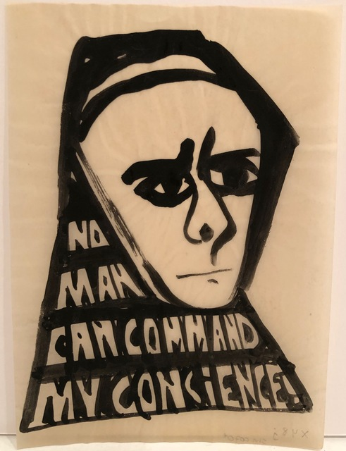 Ben Shahn, 'No Man Can Command My Conscience ', ca. 1955, DC Moore Gallery