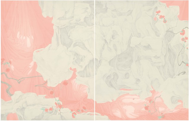 , 'Peach blossoms in the mountain,' 2015, Amy Li Gallery