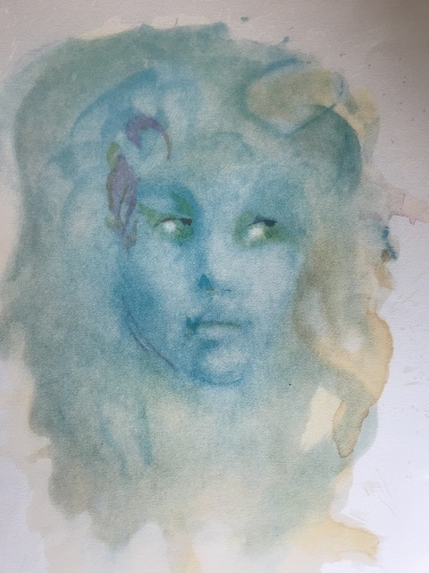 Leonor Fini, 'Visage bleu', ca. 1980, ByNewArt