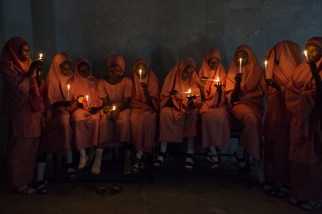 , 'School Girls with Candles (3),' 2017, Red Hook Labs
