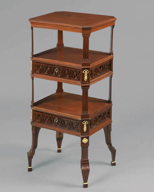 , 'A beautiful and very rare early Louis XVI carved and pierced  mahogany small table, with chased and giltbronze mounts,' , Kraemer Gallery - Paris