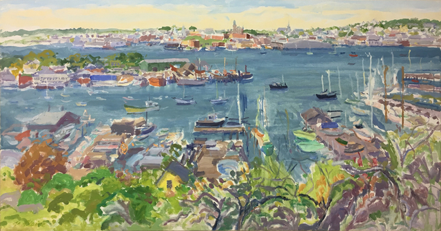 , 'Gloucester Harbor from Banner Hill,' 1986, Tibor de Nagy