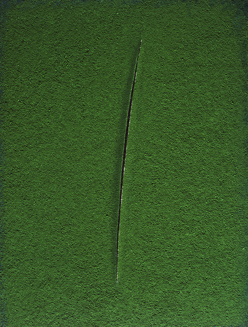 , 'Spatial Concept, Attesa (Green), after Lucio Fontana – Pictures of Pigment,' 2008, galerie nichido / nca | nichido contemporary art
