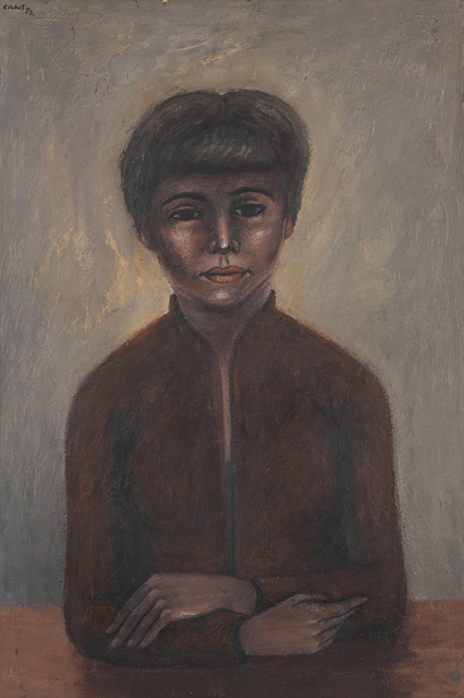 James Cant, 'My Dora', 1953, Painting, Encaustic on board, Charles Nodrum Gallery
