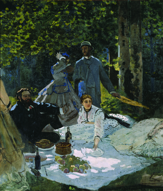 , 'Luncheon on the Grass, Central Panel,' 1865-66, Legion of Honor