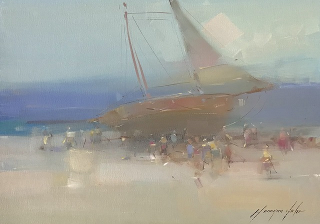 Vahe Yeremyan, 'Foggy harbor', 2019, Vayer Art