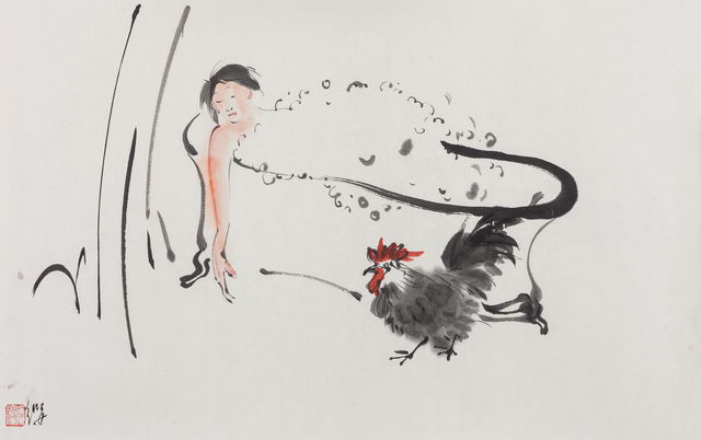, '浴女与雄鸡 Bathing Beauty And The Cock,' 2016-2017, Aye Gallery