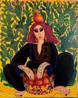Laila Shawa, 'Pomegranate seller with cactus', 2019, Janet Rady Fine Art