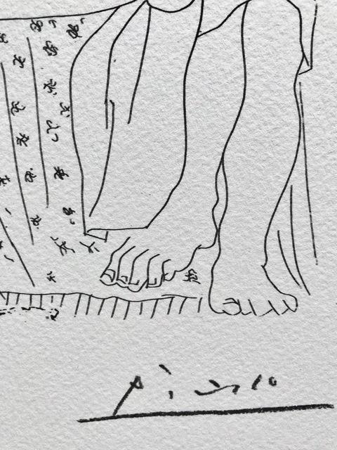 Pablo Picasso, 'Sculpteur modèle couché et autoportrait en Hercule sculpté (Suite Vollard Planche XXXVII)', 1973, ByNewArt