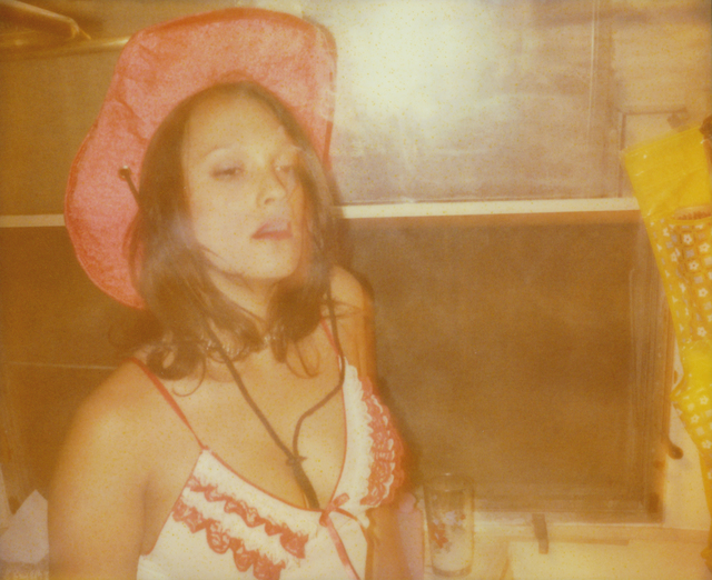 Stefanie Schneider, 'Margarita Smokes in Bathroom II (Till Death do us Part)', 2005, Photography, Analog C-Print, hand-printed by the artist on Fuji Crystal Archive Paper, based on a Polaroid, mounted on Aluminum with matte UV-Protection, Instantdreams