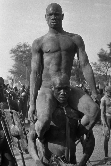, 'The Wrestlers, Kordofan, Sudan,' 1949, Brooklyn Museum
