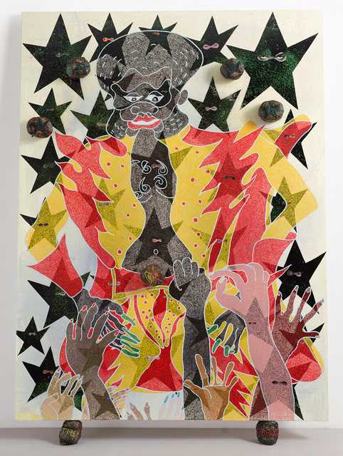 , 'The Adoration of Captain Shit and the Legend of the Black Stars (Third Version),' 1998, New Museum