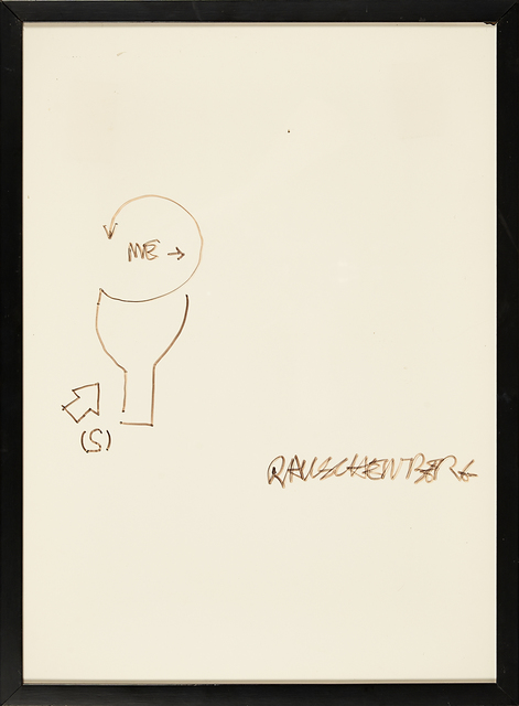 Robert Rauschenberg, 'Untitled (Diagram for Douglas/Ace Vancouver Exhibition 1967)', Drawing, Collage or other Work on Paper, Felt marker on paper, Rago/Wright