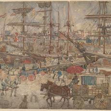 Maurice Brazil Prendergast, 'Docks, East Boston', 1900/1904, National Gallery of Art, Washington, D.C.