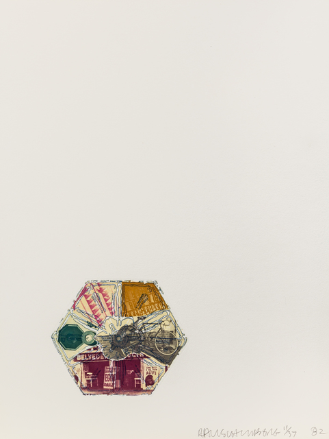 Robert Rauschenberg, '10,000' and Rising (from L.A. Flakes)', 1982, Hindman
