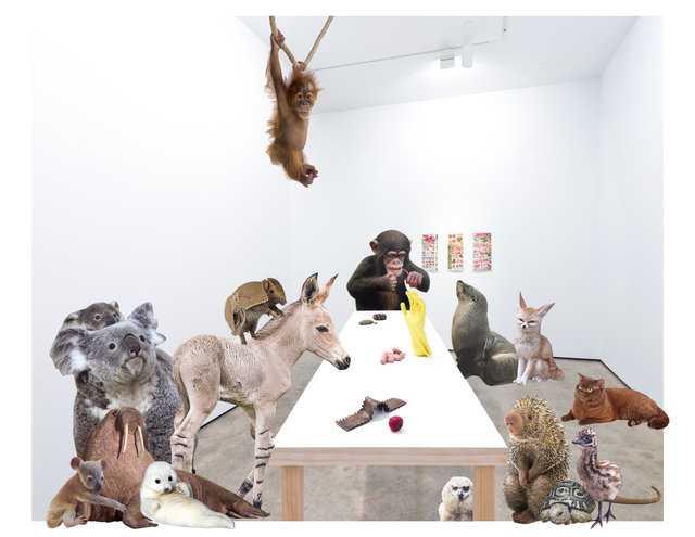 , 'The Sexual Bronze Show (Austin), With Animals,' 2017, Klowden Mann