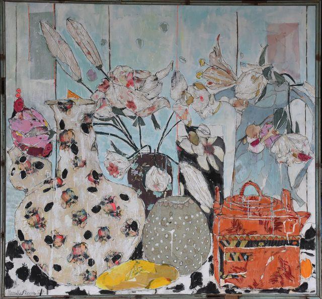 , 'White roses ,' 2019, Rebecca Hossack Art Gallery