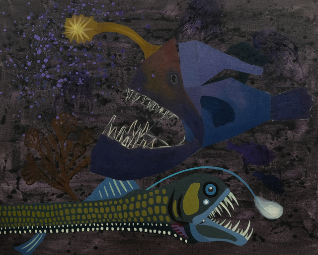 , 'Wanderers of the Abyssal Darkness.Triplewart Seadevil and Viperfish S1704,' 2018, Tina Keng Gallery