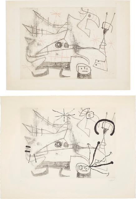 Joan Miró, 'Femme-oiseau I: two impressions', 1960, Phillips