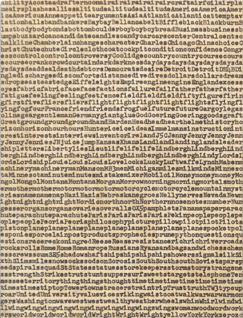Carl Andre, 'Five Hundred Terms for Charles A. Lindbergh', 1962, Heather James Fine Art