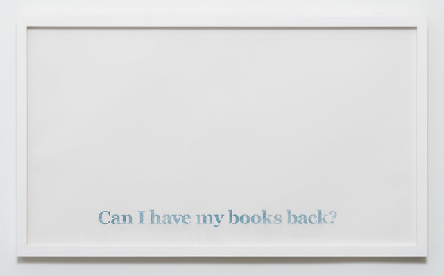, 'Can I Have My Books Back,' 2017, CES Gallery