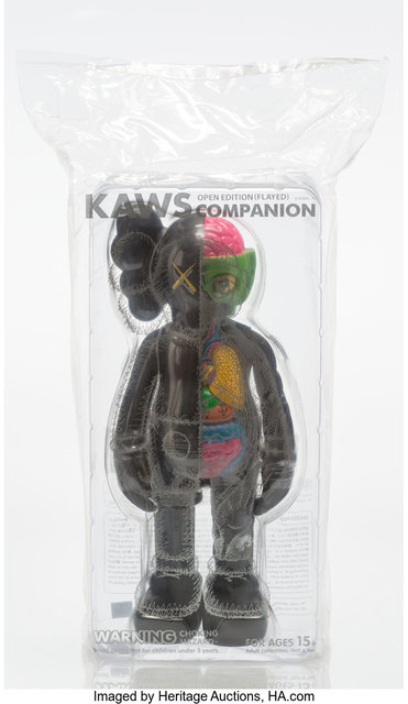 KAWS, 'Dissected Companion (Black)', 2016, Sculpture, Painted cast vinyl, Heritage Auctions