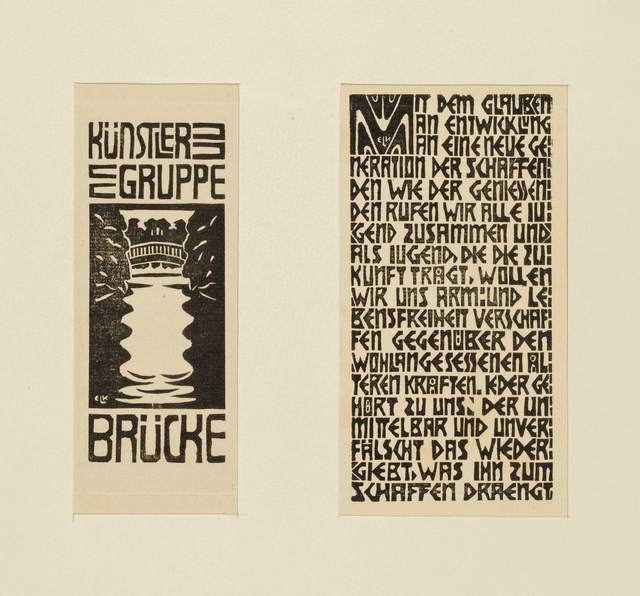 , 'Signet of the Artists Group Brücke/Program of the Artists Group Brücke,' 1906, Galerie St. Etienne