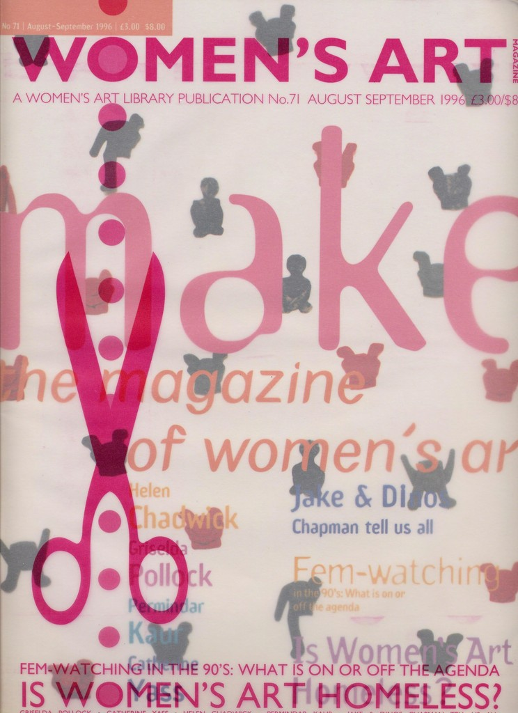 Women's Art Magazine, No. 71 August September 1996, courtesy of the Women's Art Library, Goldsmiths, University of London