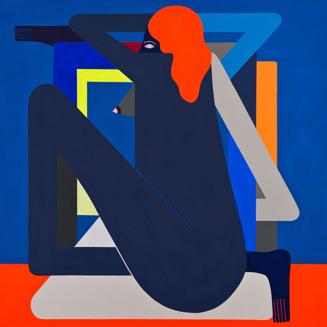 , 'Complicated Figure (Blue) on (Red),' 2016, Gastman
