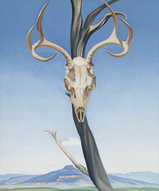 , 'Deer's Skull with Pedernal,' 1936, Museum of Fine Arts, Boston