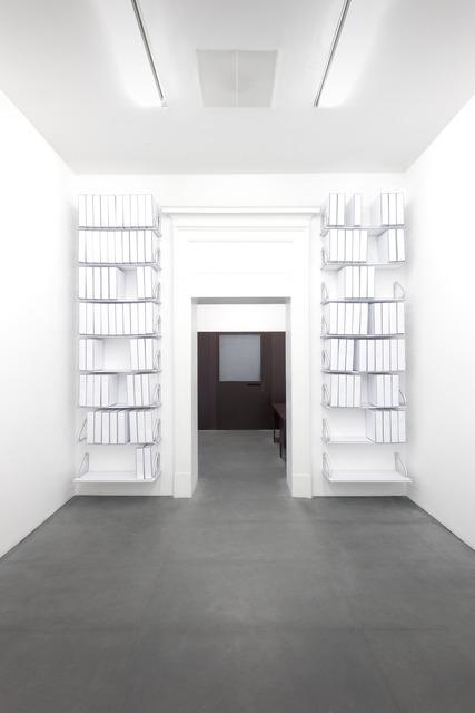 , 'Ricostruzione dell'archivio di Lia Rumma (faldoni, mensole, sculture in carta).,' 2013, Lia Rumma