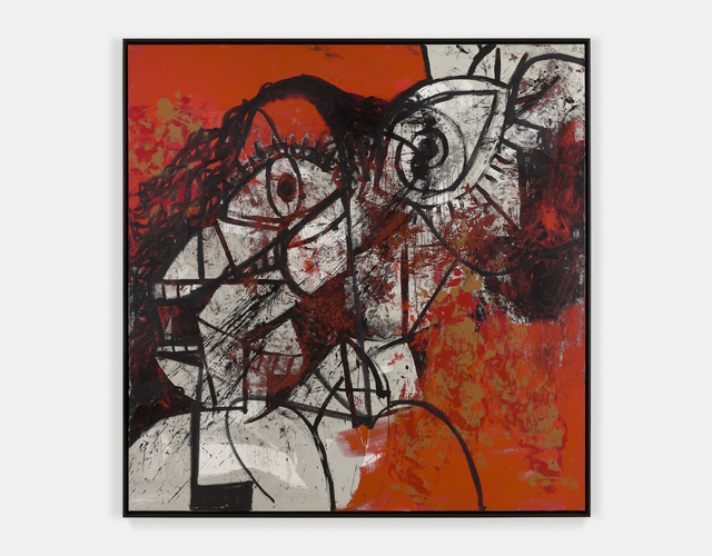 , 'Red and Black Diagonal Portrait,' 2016, Simon Lee Gallery