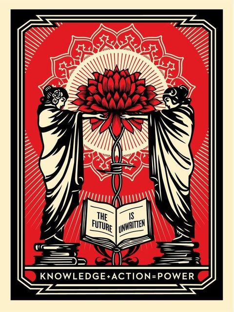 Shepard Fairey (OBEY), 'Knowledge + Action', 2018, New Union Gallery