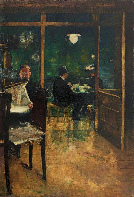 , '»Im Café Bauer, Berlin«,' , Ludorff
