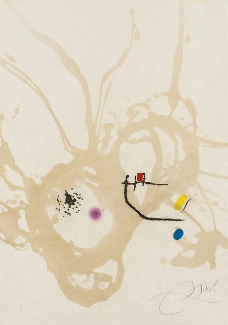 Joan Miró, 'Untitled from Passage de L'Egyptienne (Cramer 257; Dupin)', 1985, Forum Auctions