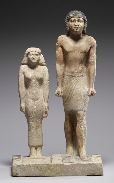 'Statue Group of Nen-kheft-ka and His Wife, Nefer-shemes', ca. 2350 B.C., Walters Art Museum