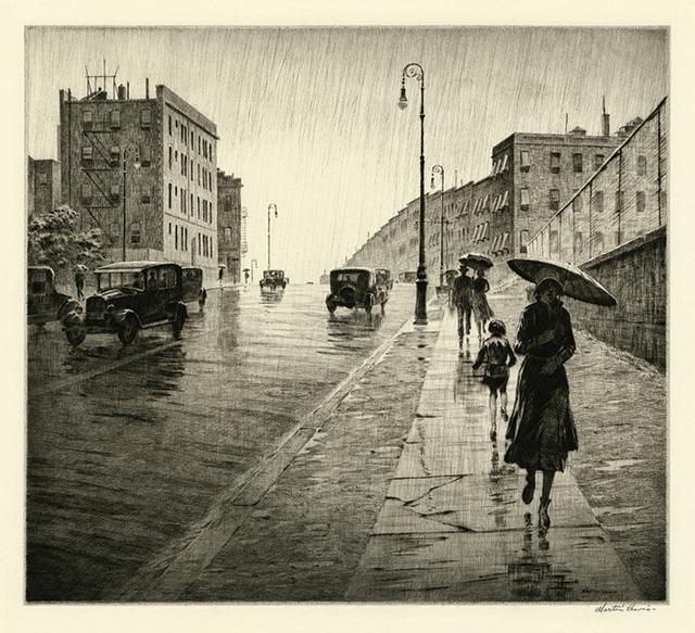 , 'Rainy Day, Queens,' 1931, Harris Schrank Fine Prints