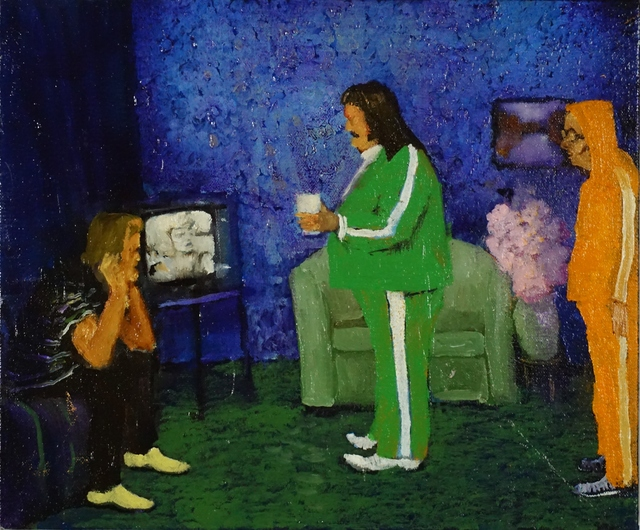 , 'Watching with Big Green,' 2018, Galerie de Bellefeuille