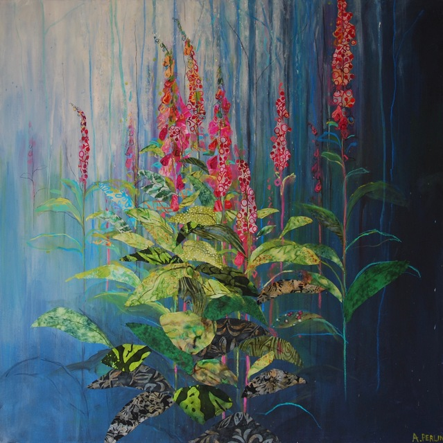 , 'Foxgloves,' 2017, Thackeray Gallery
