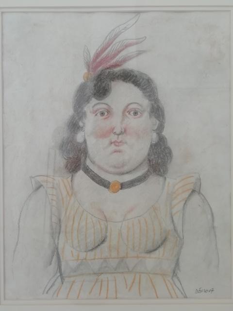 Fernando Botero, 'Donna con le piume', 2007, Barbara Paci Art Gallery