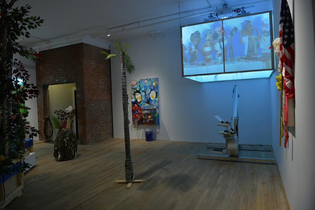 Installation view of Jen Catron & Paul Outlaw's Behold! I teach you the Overman!