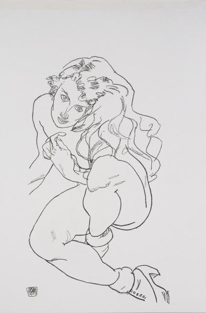 Egon Schiele, 'Sitting Nude with Raised Knee [Handzeichnungen]', 1920, Jason Jacques Gallery