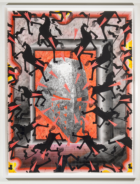 , 'Every Shadow, A Flash of Light (War Mask),' 2016, Joshua Liner Gallery