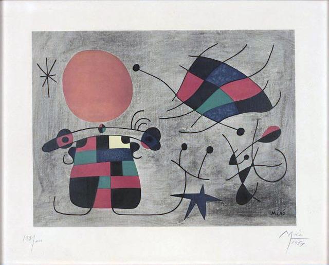 Joan Miró, 'Le sourire aux ailes flamboyantes', 1954, Le Coin des Arts