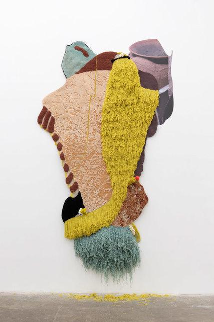 Lorenzo Vitturi, 'The Weaver', 2020, Textile Arts, Wool, bamboo silk, Cotisso, Peruvian yarns, Lagos net, Murano beads, PVC adhesive poster, T293