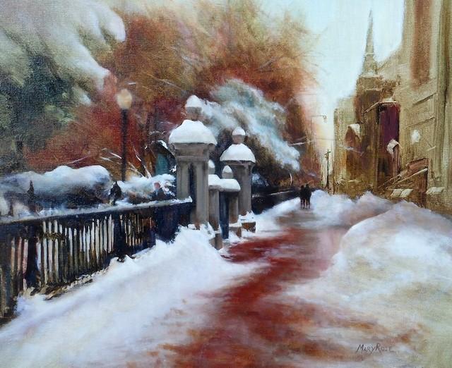 , 'Along the Iron Fence,' 2015, Copley Society of Art