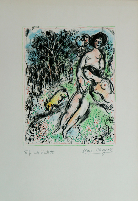 Marc Chagall, 'Idylle aux Champs', 1972, Print, Lithography, Art Works Paris Seoul Gallery