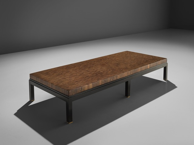 Jules Wabbes Jules Wabbes Custom Made Wenge Table With Brass Feet Ca 1970 Available For Sale Artsy