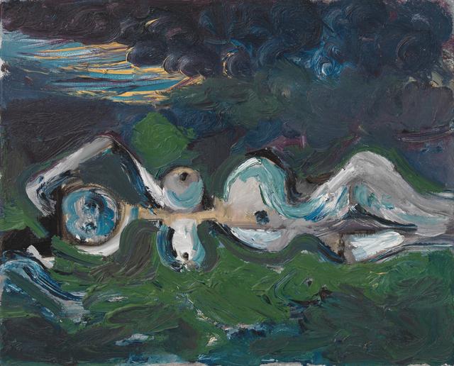 George Condo, 'Nude in landscape', 1987, Galerie Andrea Caratsch